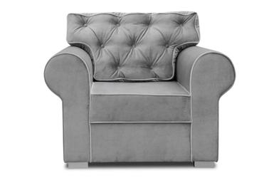 Elegancki fotel rosie z pikowanym oparciem
