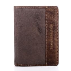 Brązowy stylowy męski skórzany portfel harolds