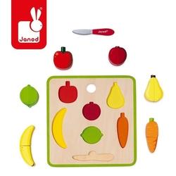 Układanka drewniana 3d green market owoce i warzywa 2-4 lata, janod