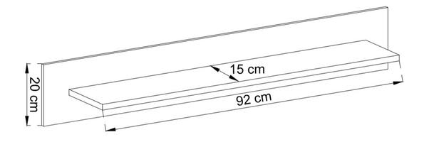 Półka wisząca bordi 107 cm dąb artisan