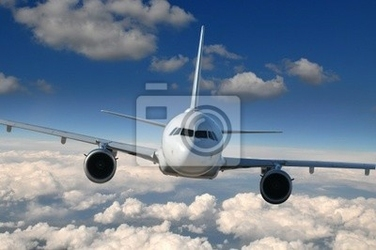 Fototapeta commercial airliner w locie