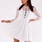 Soky soka  sukienka biały 49006-2