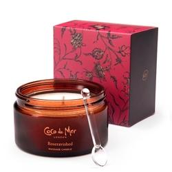 Luksusowa świeca do masażu - coco de mer massage candle 200 gr  róża i drewno sandałowe