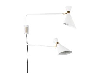 Zuiver :: lampa ścienna metalowa double biała