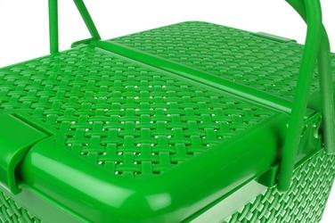 Koszyk piknikowy prostokątny zielony