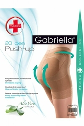 Gabriella 127 push up medica 20 den sable rajstopy