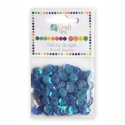 Cekiny okrągłe 10 g - niebieskie - NIE