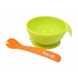 Zestaw miseczka z przyssawką i łyżeczka - zielony