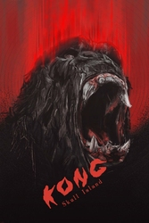 Kong wyspa czaszki - plakat premium wymiar do wyboru: 29,7x42 cm
