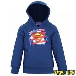 Bluza z kapturem superman granatowa 6 lat