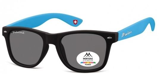 Okulary nerdy  montana mp40d niebieskie polaryzacyjne