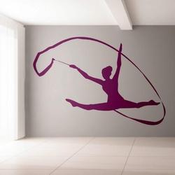 gimnastyczka 1161 naklejka