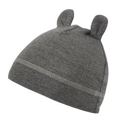 Bambusowa czapeczka dla niemowląt samiboo - szary melanż 3-6mc.