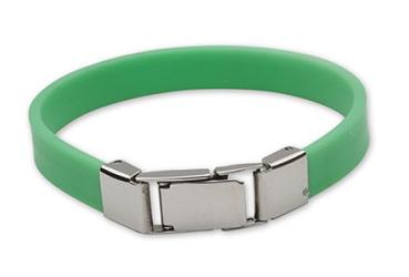 bransoletka silikonowa 611-10 zielona