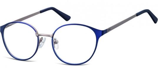 Oprawki okularowe kocie oczy damskie stalowe sunoptic 941e granatowo-grafitowe