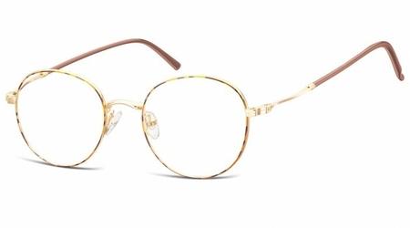 Lenonki okrągłe oprawki optyczne 927i panterka+złoty