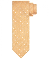 Pomarańczowy krawat ze wzorem profuomo