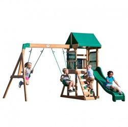 Backyard discovery buckley hill drewniany plac zabaw 5w1 wykonany z drewna cedrowego