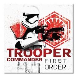 Star wars: the last jedi trooper commander first order - obraz na płótnie