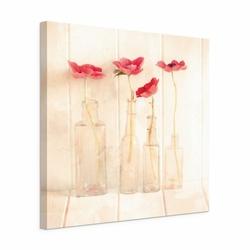 Anemones In Bottles - Obraz na płótnie