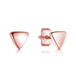 Staviori kolczyki. srebro rodowane 0,925.  pokryte różowym złotem wymiary 5,5x5,5 mm.
