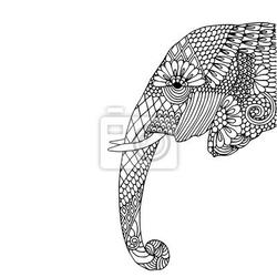 Naklejka głowa słonia