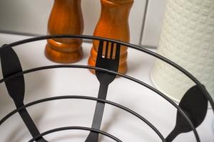 Koszyk metalowy czarny 22 cm