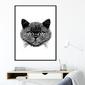 Plakat w ramie - night cat , wymiary - 30cm x 40cm, ramka - czarna