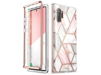 Etui supcase cosmo do samsung galaxy note 10 plus marble pink - różowy