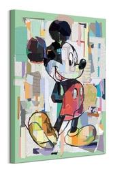 Mickey mouse office decoupage - obraz na płótnie