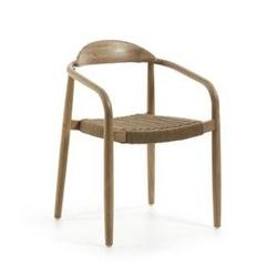 Drewniane krzesło ogrodowe glynis 56x53 cm beżowe