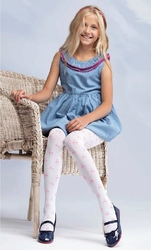 Rajstopy yo ra-76 flamingi mf 20 den rozmiar: 104-110, kolor: różowy pudrowy, yo