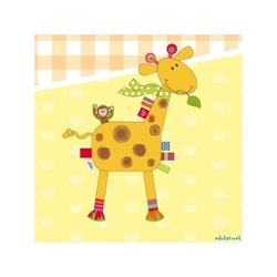 Płaska przytulanka żyrafa kocyk z metkami