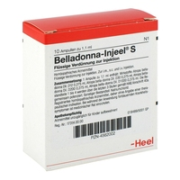 Belladonna injeele s 1,1 ml