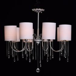 Oświetlenie sufitowe na 8 żarówek - chrom, wiszące kryształy mw-light elegance 379018608