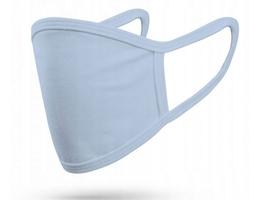 Maska ochronna x2 maseczka na twarz protective mask niebieska - niebieski