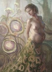 Pajęcza suknia - plakat premium wymiar do wyboru: 30x40 cm