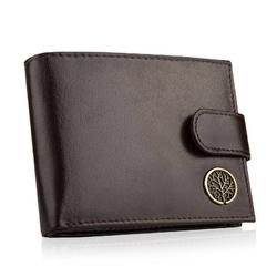 Betlewski elegancki skórzany portfel rfid bpm-bf-60 brązowy