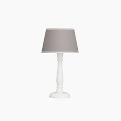 Lampka nocna roomee decor - szara z białą  lamówką