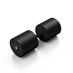 Hantla stalowa gumowana 45 kg czarny mat - marbo sport - 45 kg