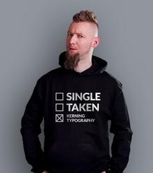 Kerning typography męska bluza z kapturem czarna s
