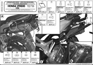 Kappa klx166 stelaż boczny v35 vfr 800 vtec 0211
