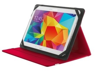 Trust primo folio case with stand for 10 tablets - red