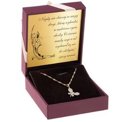 Złoty wisiorek z łańcuszkiem pr. 333 motylek prezent z dedykacją