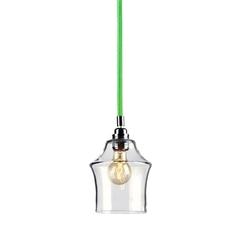 Kaspa - lampa wisząca - longis ii - zielona - zielony