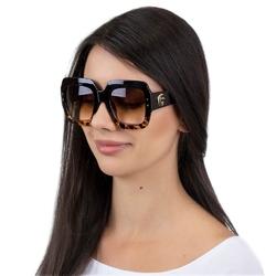 Okulary damskie przeciwsłoneczne kwadratowe brąz