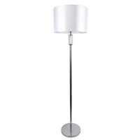 Lampa podłogowa z białym kloszem, chromowana podstawa ontario mw-light elegance 692041601