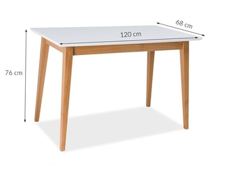 Stół do jadalni messer 120x75 cm skandynawski