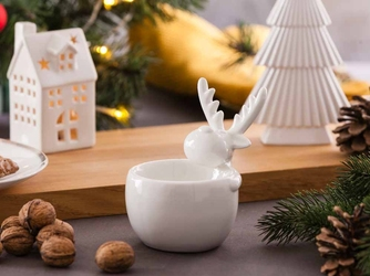 Świecznik dekoracyjny  ozdobny święta boże narodzenie altom design renifer 13 cm