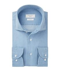 Koszula jeansowa jasnoniebieska slim fit 37